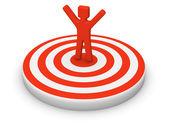 Man on target — Stock Photo