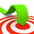 Arrow pointing on target - Stock Photo