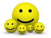 Yellow smiley balls — Stock Photo