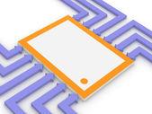 Concept de la puce électronique — Photo