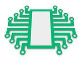 Símbolo de microchip electrónico — Foto de Stock