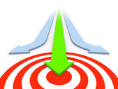 Attain the target — Stock Photo
