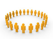 Circle of 3d people — Stock Photo