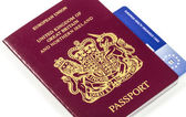 British Passport with E111 EHIC — 图库照片
