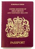 British Passport — Stock Photo