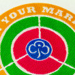 Girl Guiding On Your Marks Badge — Stock Photo #15343617