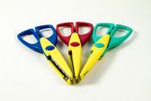 Trzy nożyczki — Zdjęcie stockowe