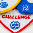 Girl Guiding Challenge Badges — Stock Photo #15358115