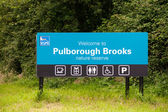 Pulborough Brooks Sign — Stock Photo