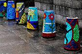 Barreras arquitectónicas multicoloras — Foto de Stock