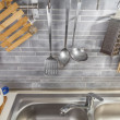 Stock Photo: Kitchen tools from above