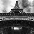 Stock Photo: Eiffel tower from bottom
