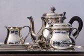 Tea silver set — Stock Photo