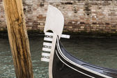 Gondola's prow — Stock Photo