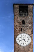 Bell tower with clock — Stock Photo