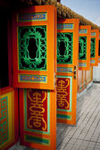 Traditional Oriental Auspicious Door — Stock Photo