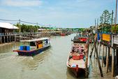 Fishing Village, Pulau Ketam, Malaysia — Stock Photo