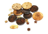 Wooden buttons — Stock Photo