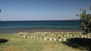 Anzac cove, Aegean sea — Stock Video