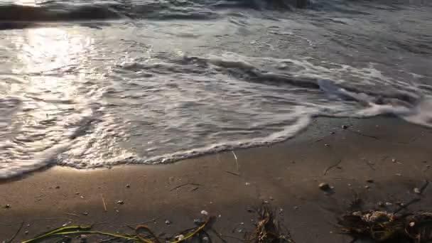 La playa, estrecho de Dardanelos — Vídeo de stock