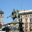 Milan Victory Statue in Piazza Duom — Stock Photo