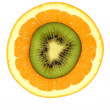 Orange and kiwi — Stock Photo