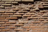 Ruins of the Collosseo of an ancient Roman construction for entertainments. — Stock Photo