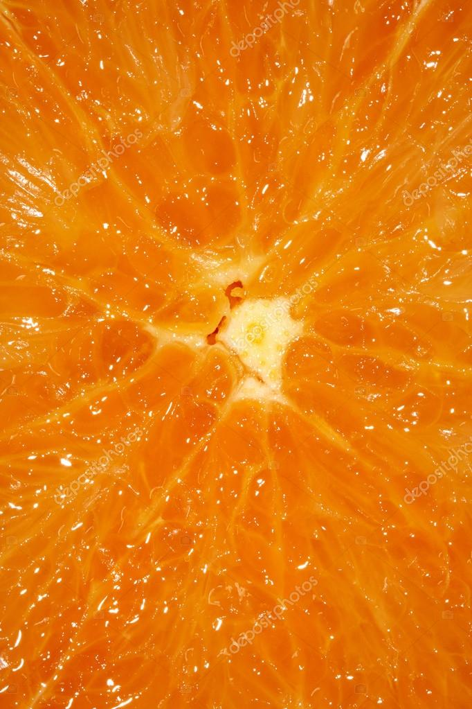 Slice of an orange close up   Stock Photo #13811255
