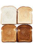 四色图像面包 — 图库照片