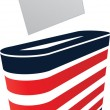 Stock Vector: Vector image of ballot box and vote
