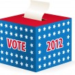 Illustrated image of a ballot box — Vector de stock #13235036