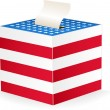 Vector image of a ballot box — Vector de stock