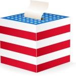 投票箱のベクトル画像 — ストックベクタ