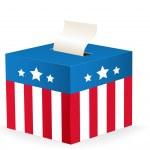 与星星和条纹的投票箱矢量图像 — 图库矢量图片