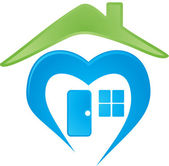 Vector image of a house logo — Stock Vector