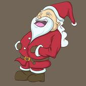 Clip art of the happy santa — Stock Vector