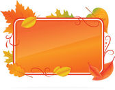 Autumn background with leafs — Stockvektor