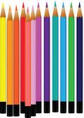 Pencil crayons — Stock Vector