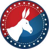Het Amerikaanse democratische banketten dierlijke teken — Stockvector