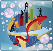 Business around the world vector — Stock Vector