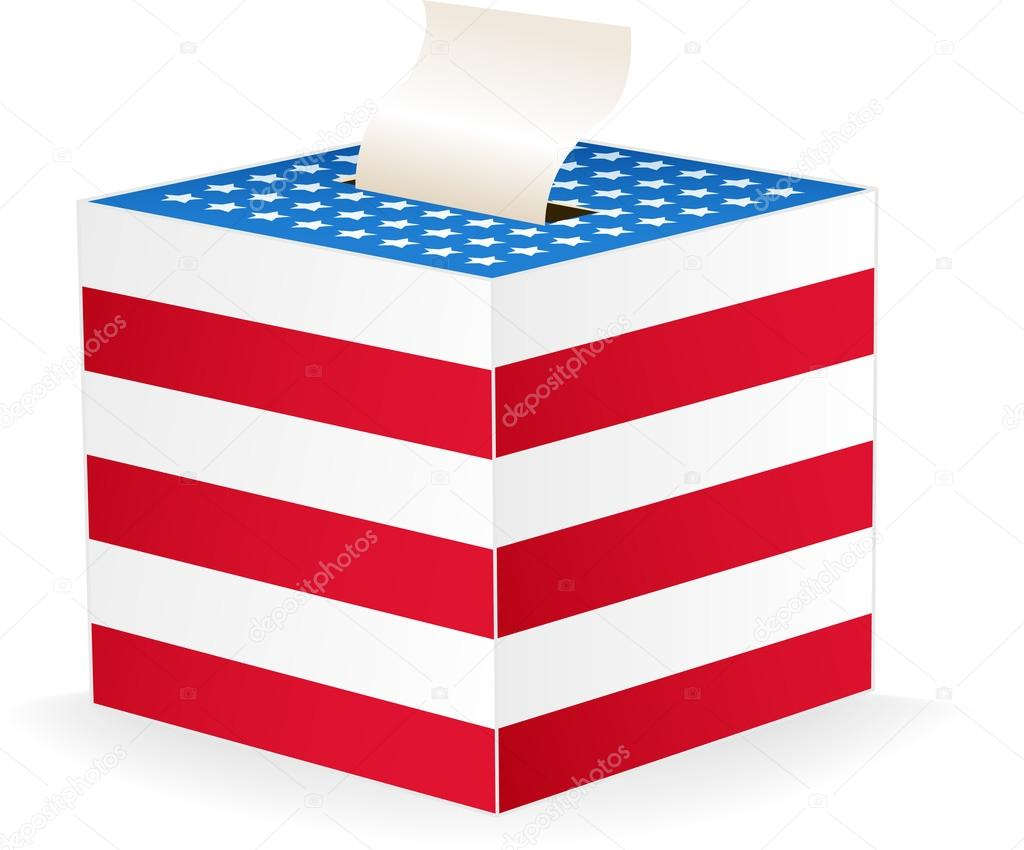 Digitally generated image of a ballot box. — Stock Vector #13235685