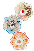 Assorted flavors of frozen yogurt — Stock Photo