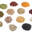 Variety of beans and pulses - Stock Photo