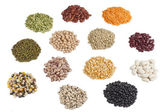 Variety of beans and pulses — Stock Photo