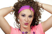 80s girl hair — Stock Photo