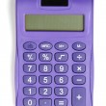Постер, плакат: Violet calculator