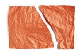 Orange torn and crumpled paper — Stock Photo