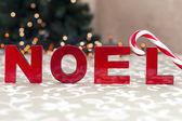 Noel word ve şeker kamışı — Stok fotoğraf