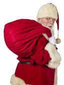 Santa claus and big bag — Stock Photo
