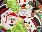 Gingerbread cookies decorations — Stock Photo